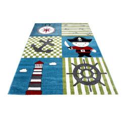 Children's carpet, kids room carpet with designs pirate ship Kids 0450 Multi
