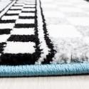 Children's carpet, kids room carpet with motifs of a formula 1 racing car Kids 0460 Blue