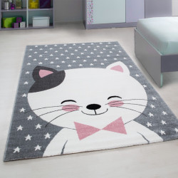 Kinderteppich Teppich mit motiven Katze Kids - Pink