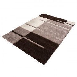 Modern Designer contour cut 3D living room carpet Hawaii 1310 brown