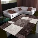 Modern Designer contour cut 3D living room carpet Hawaii 1330 brown