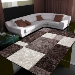 Modern Designer contour cut 3D living room carpet Hawaii 1330 brown