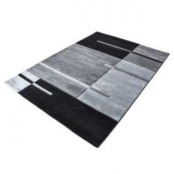 Modern Designer contour cut 3D living room carpet Hawaii 1310 grey