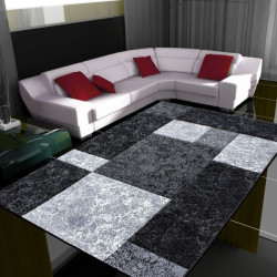 Modern Designer contour cut 3D living room carpet Hawaii 1330 Black