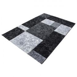Modern Designer contour cut 3D living room carpet Hawaii 1330 Black