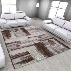 Modern Designer Living Room Carpet, Lima, 1350 Brown