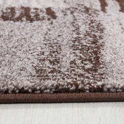 Modern designer living room rug Lima 1350 brown