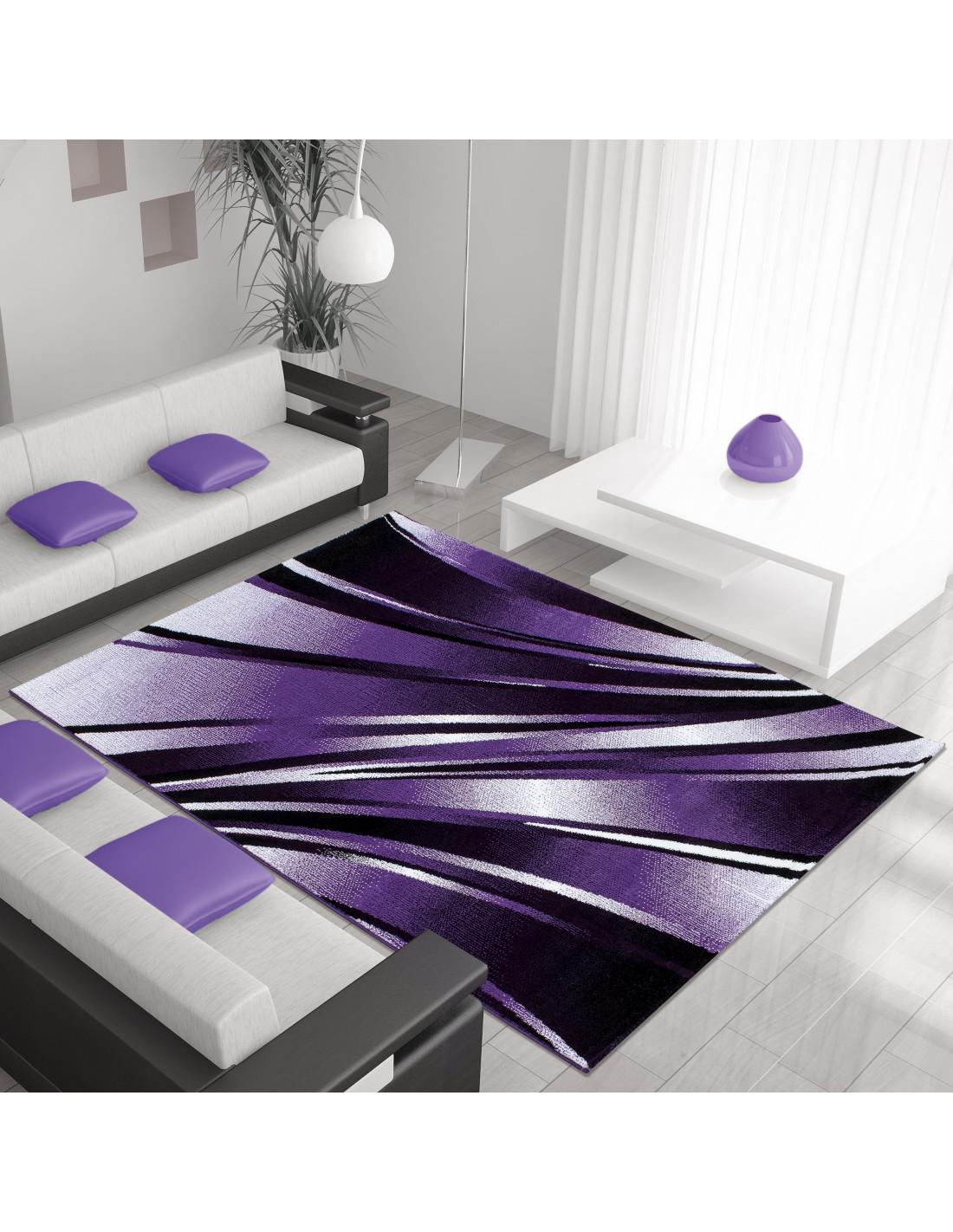 Moderne, Salle De Séjour Tapis De Parme-Violet