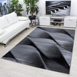 Modern Designer Living Room Carpet, Parma 9240 Black