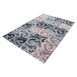Modern Designer Glitter On The Living Room Carpet Toscana 3130 Pink