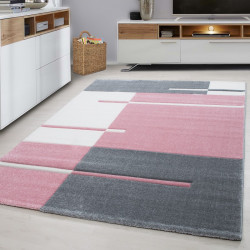 Modern Designer contour cut 3D living room carpet Hawaii 1310Rosa
