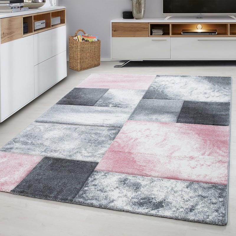 Moderner Designer Konturenschnitt 3D Wohnzimmer Teppich Hawaii-Rosa