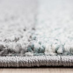 Modern designer contour cut 3D living room rug LUCCA 1810 BLUE