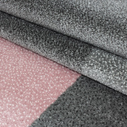 Modern designer contour cut 3D living room rug LUCCA 1810 PINK