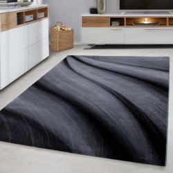 Modern designer living room rug Miami 6630 Black