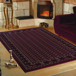 Classic oriental living room rug Marrakesh 0351 red