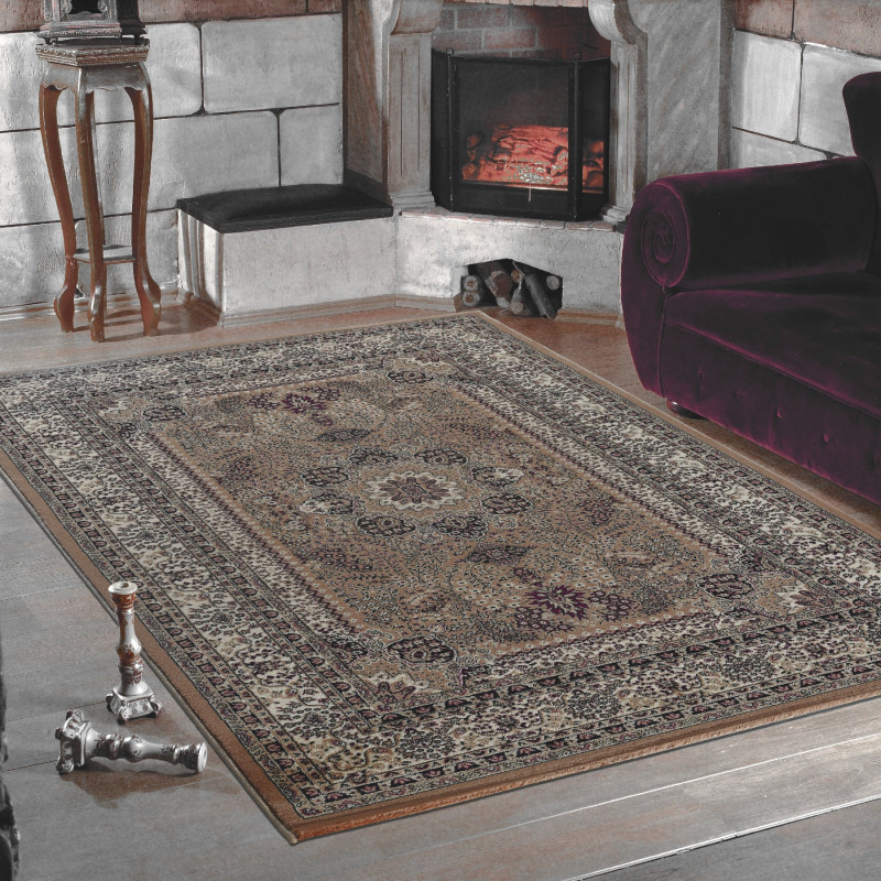 Classical Oriental Living Room Rug Marrakesh 0207 Beige