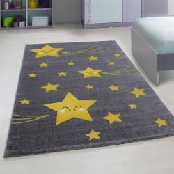Kinderzimmer Teppich mit motiven Stern-Yellow