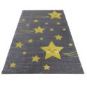 Kinderteppich Kinderzimmer Teppich mit motiven Katze Kids 550 Blue