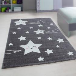 Kinderzimmer Teppich mit motiven Stern-Grey