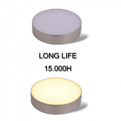 LED Panel Deckenleuchte Basic Silver - Aufbauspot - Deckenspot - Modern - Matt Nickel -(24W-Warmweiss)