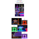 LED WIfi Streifen RGB Set LED Strip mit app-gesteuert 5M 300 LEDs 5050 EU Stromkabel Wasserdicht IP65