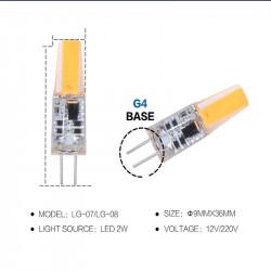 Luxbien LED SET - paquete de 5 - G4 12V 2W LED de la Lámpara - blanco cálido (3000K)