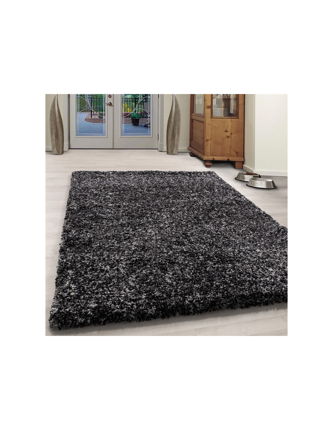Living room shaggy carpet high quality long pile deep pile gray white mottled