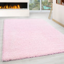 Shaggy pile living room Shaggy carpet pile height 3cm slim fit Pink