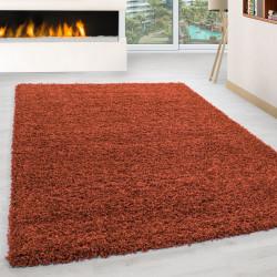 Wohnzimmer Teppich Hochflor Langflor Shaggy Teppich Florhöhe 3cm unifarbe Terra