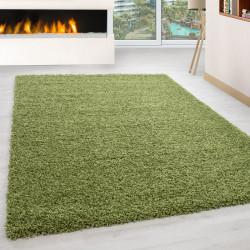 Wohnzimmer Teppich Hochflor Langflor Shaggy Florhöhe 3cm unifarbe Grün