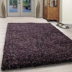 Wohnzimmer Shaggy Teppich Hochwertig Langflor Hochflor Grau Weiß Meliert