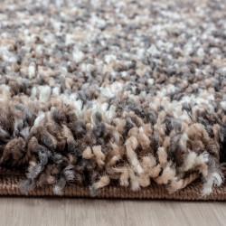 Living room shaggy rug high quality long pile deep pile taupe cream beige mottled