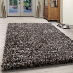 Wohnzimmer Shaggy Teppich Hochwertig Langflor Hochflor Taupe Creme Beige Meliert