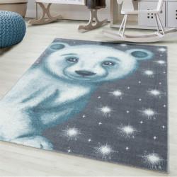 Children ' s bureau, kinderkamer tapijt 3D motief ijsbeer blauw