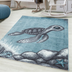 Children's carpet Children's room carpet 3D motif turtle