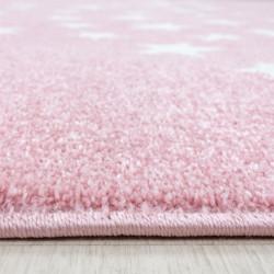 Children's carpet Children's room carpet 3D motif star pink