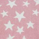 Kinderteppich Kinderzimmerteppich 3D Motiv Stern Pink