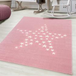 Children ' s bureau, kinderkamer tapijt 3D motief ster Roze