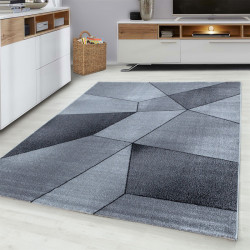 Moderner Designer  Wohnzimmer Teppich Grau