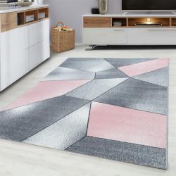 Moderner Designer  Wohnzimmer Teppich Pink