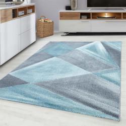 Moderner Designer  Wohnzimmer Teppich Blau