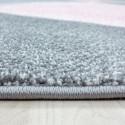 Moderner,Designer  Wohnzimmer Teppich Pink
