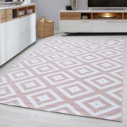 Designer woonkamer tiener slaapkamer tapijt muur motief geruite Plus-8005 Roze