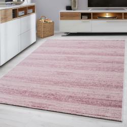 Designer woonkamer tiener slaapkamer tapijt muur motief geruite Plus-8000 ROZE