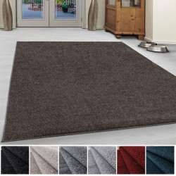 Living room rug low pile modern monochrome melange uni cheap miscellaneous Colours