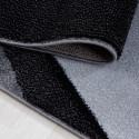 Designer  Jugendzimmer Teppich Wellenmotiv Black