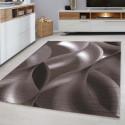 Designer  Jugendzimmer Teppich Wellenmotiv Brown
