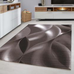 Designer Tiener Slaapkamer Tapijt Wave Motief In Het Bruin