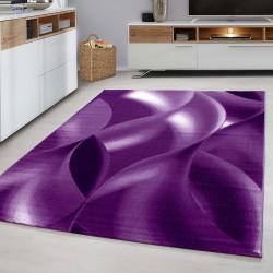 Designer tiener slaapkamer tapijt wave motief PAARS